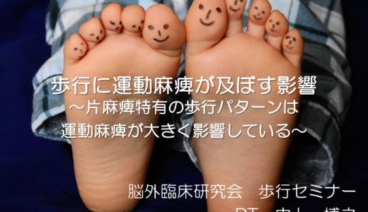 第一回歩行セミナーレポート【運動麻痺が及ぼす歩行の臨床的解釈】